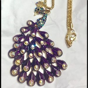 Betsey Johnson peacock necklace